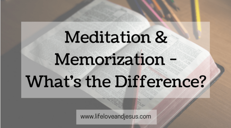 Meditation and Memorization | What's the Difference?