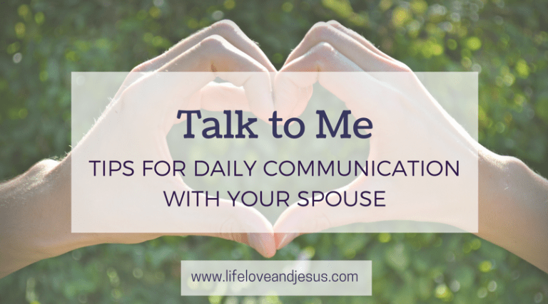 Talk to Me | Daily Communication With Your Spouse