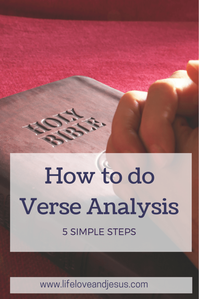how to do verse analysis