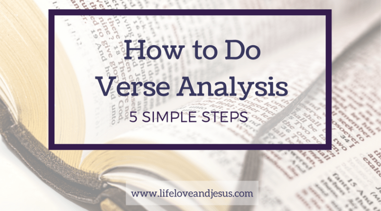 How to Do Verse Analysis | 5 Simple Steps