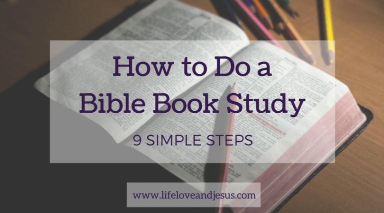 How to Do a Bible Book Study | 9 Simple Steps