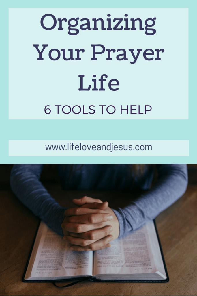 organizing your prayer life