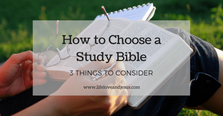 How to Choose a Study Bible | 3 Things to Consider