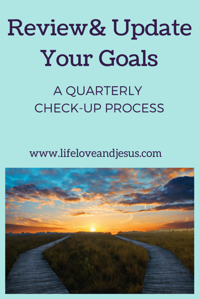 A quarterly goal check-up process