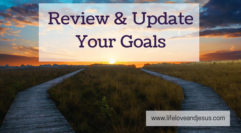 a quarterly goal check-up process