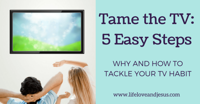 Tame the TV | Why and How