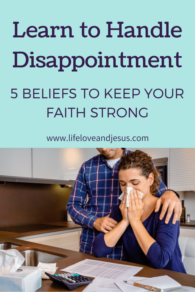 learn to handle disappointment