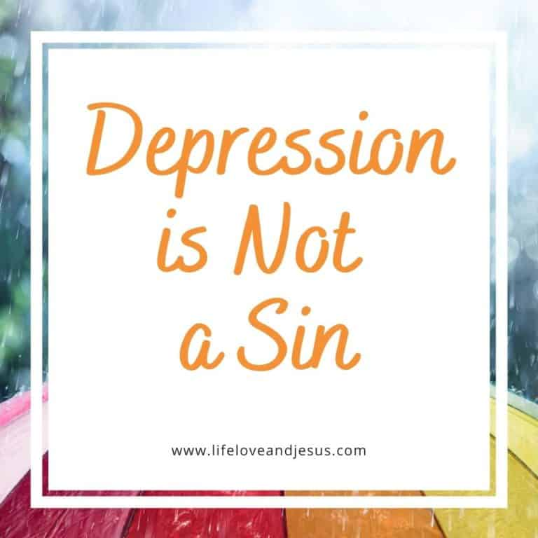 Depression is Not a Sin
