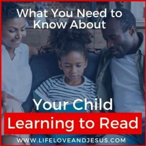 your child learning to read