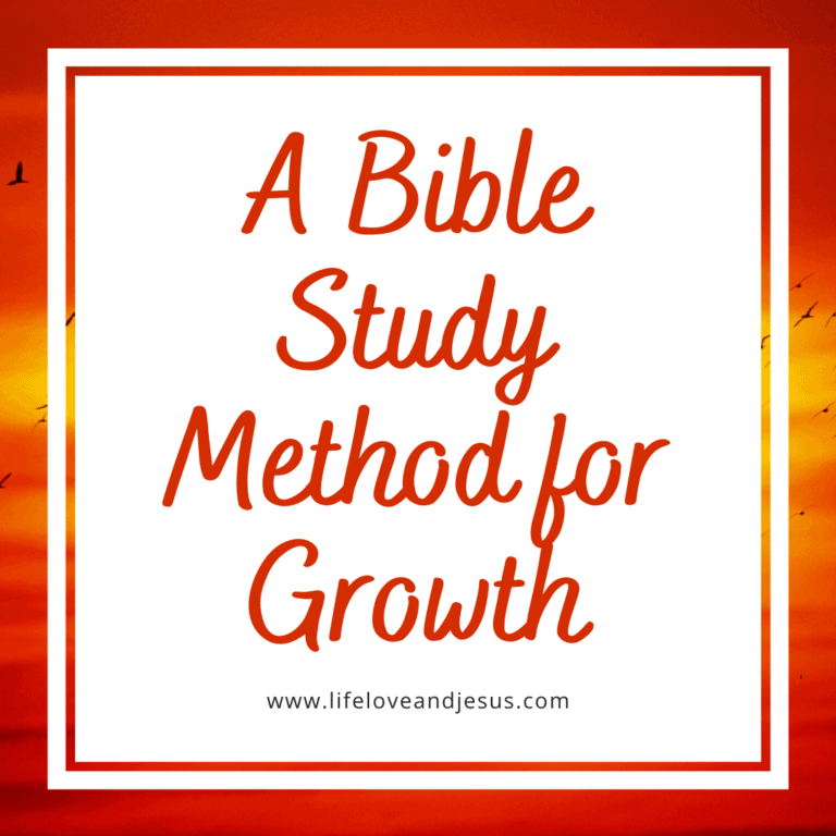A Bible Study Method for Growth