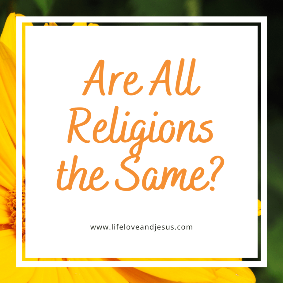 are all religions the same