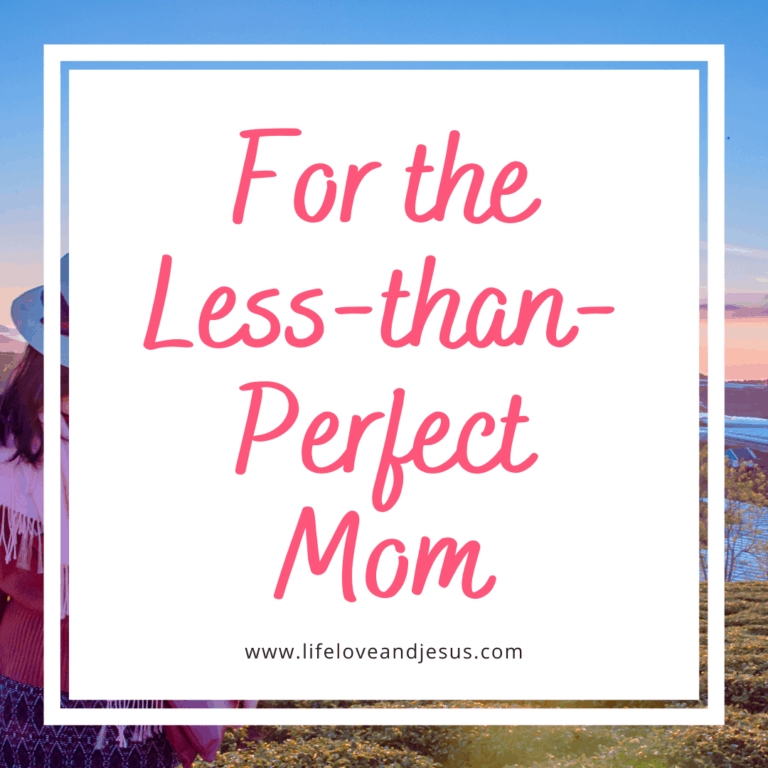 On Being a Less-Than-Perfect Mom