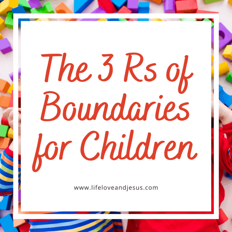 The 3 R's of Setting Boundaries for Children