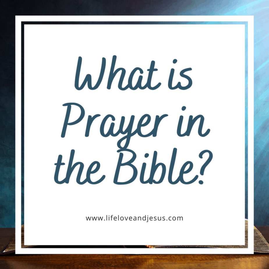 what is prayer in the Bible