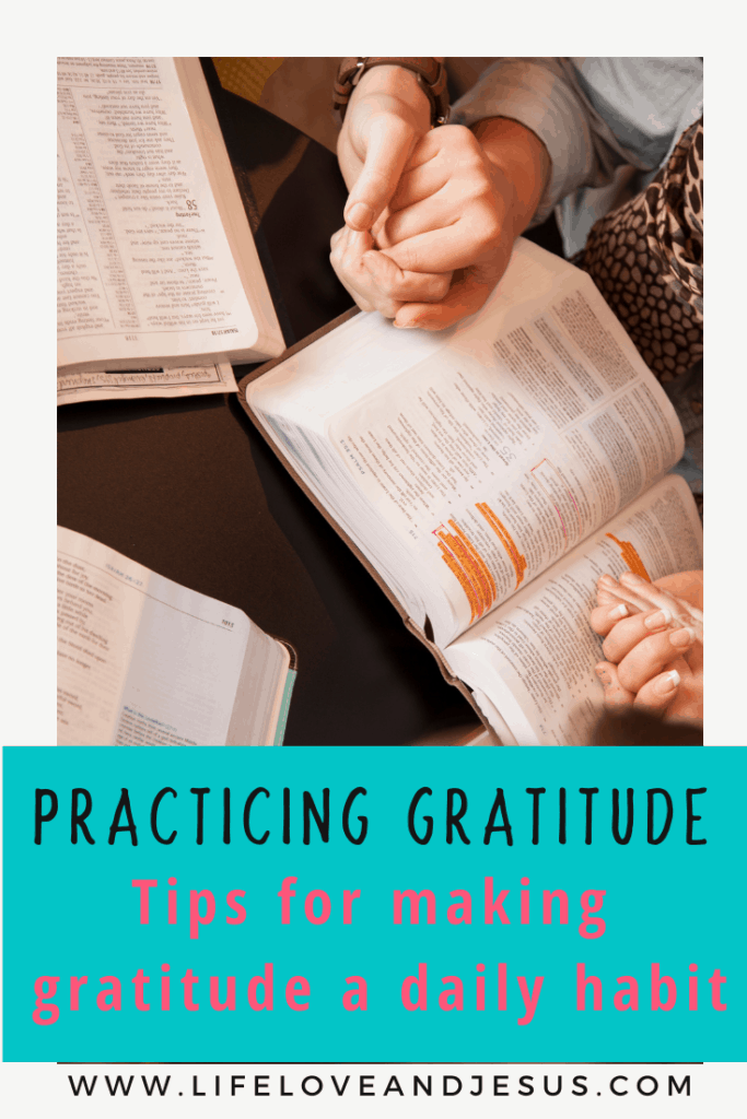 Make gratitude a daily habit