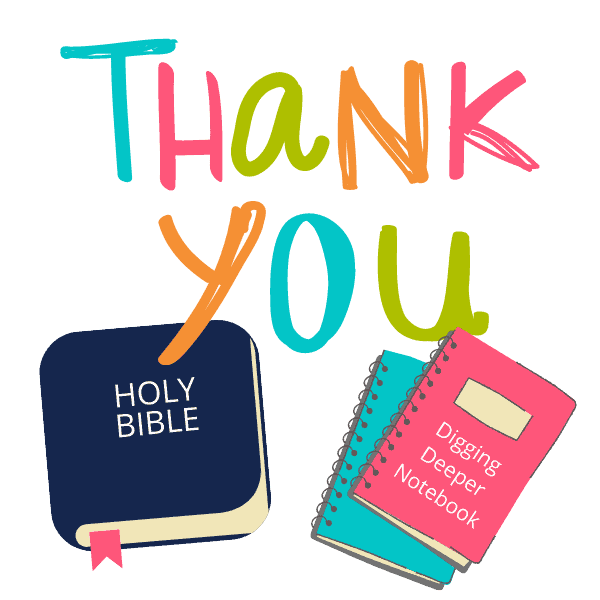 thank you with bible