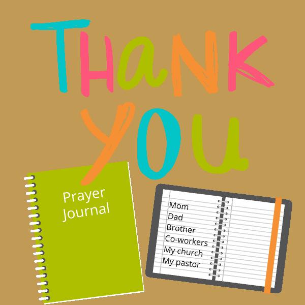 thank you prayer journal
