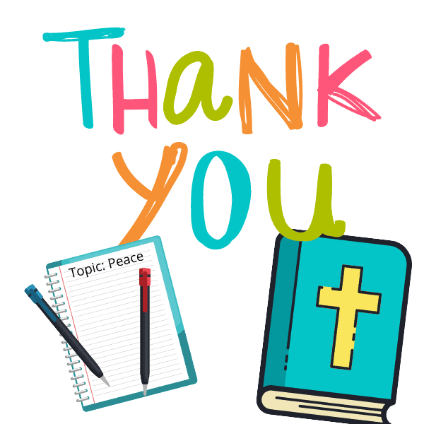 thank you bible and notebook
