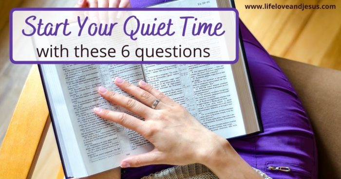 reading bible in quiet time