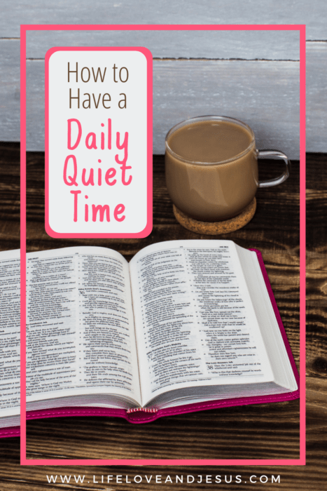 open bible quiet time