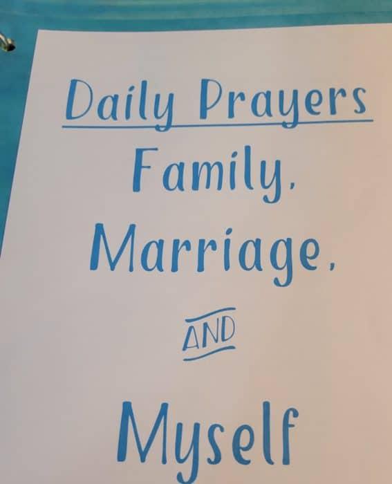 daily prayers divider