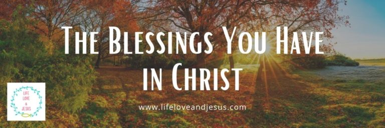 the blessings you have in christ
