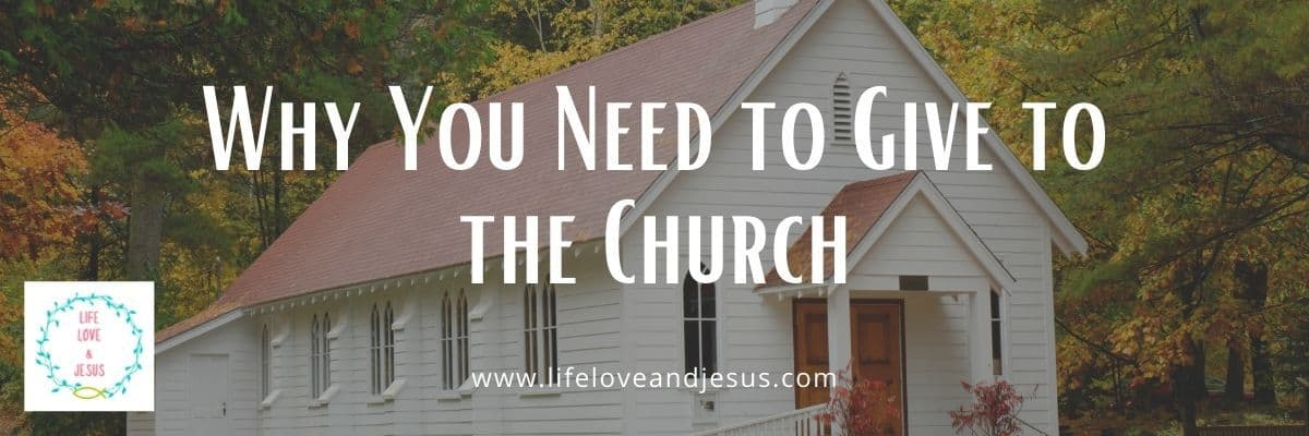 why you need to give to the church