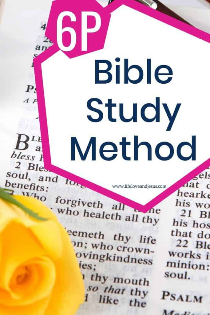 Bible study method for growth
