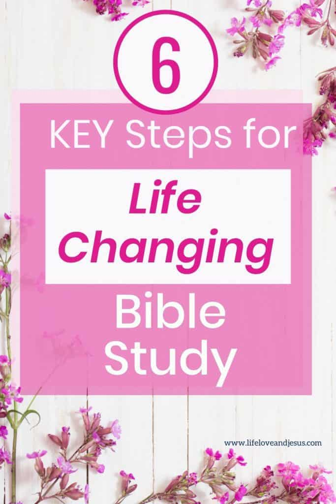 bible study for growth