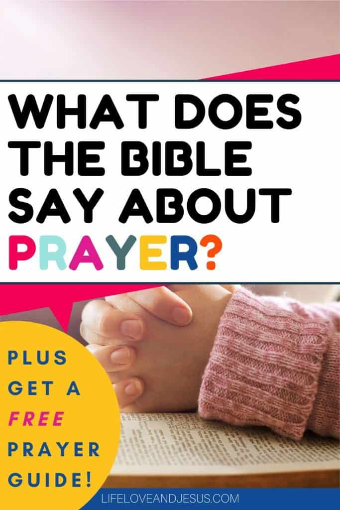 prayer in the bible
