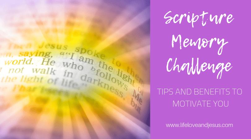 Scripture memory verses challenge