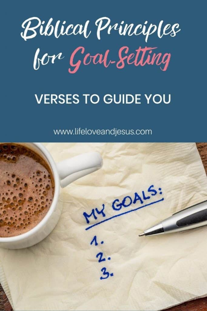 biblical principles for goal setting