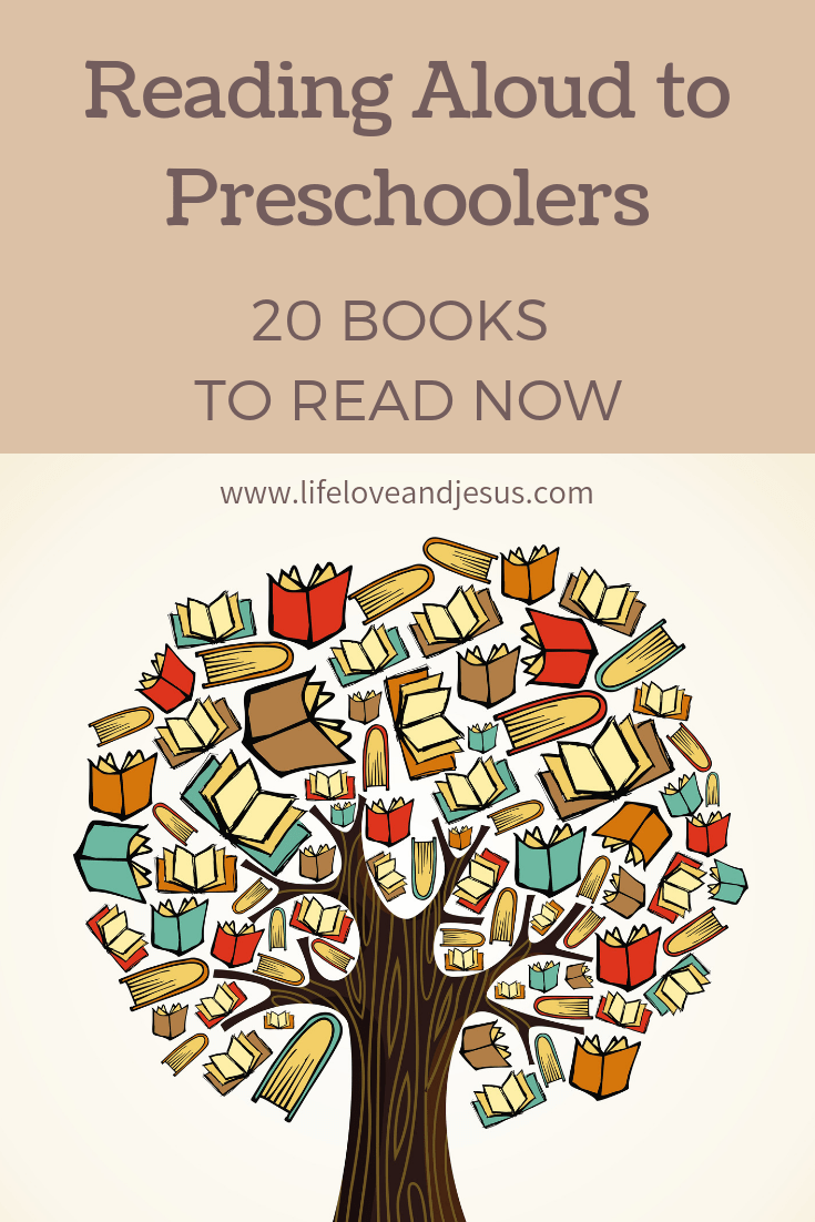 To accompany the post I did on why and how to read aloud, here is my list of 20 books to read aloud to your preschooler while there's still time!