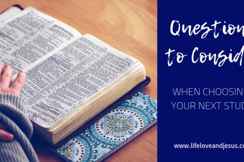choosing a Bible study