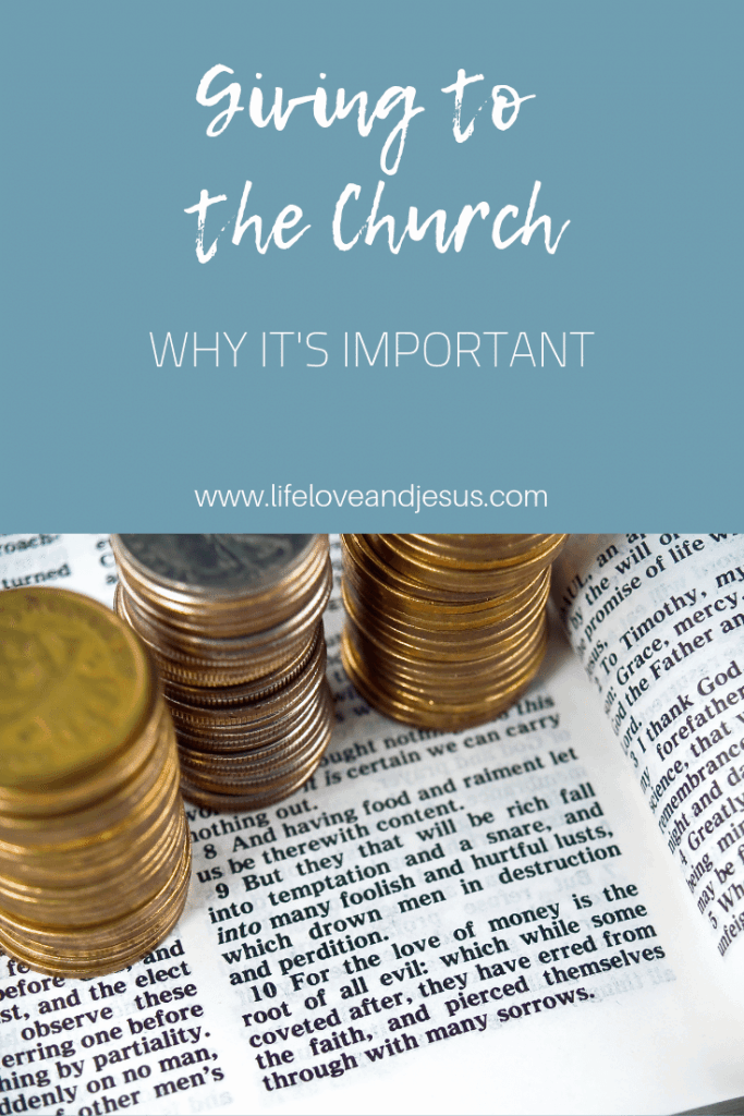 why giving to the church is important
