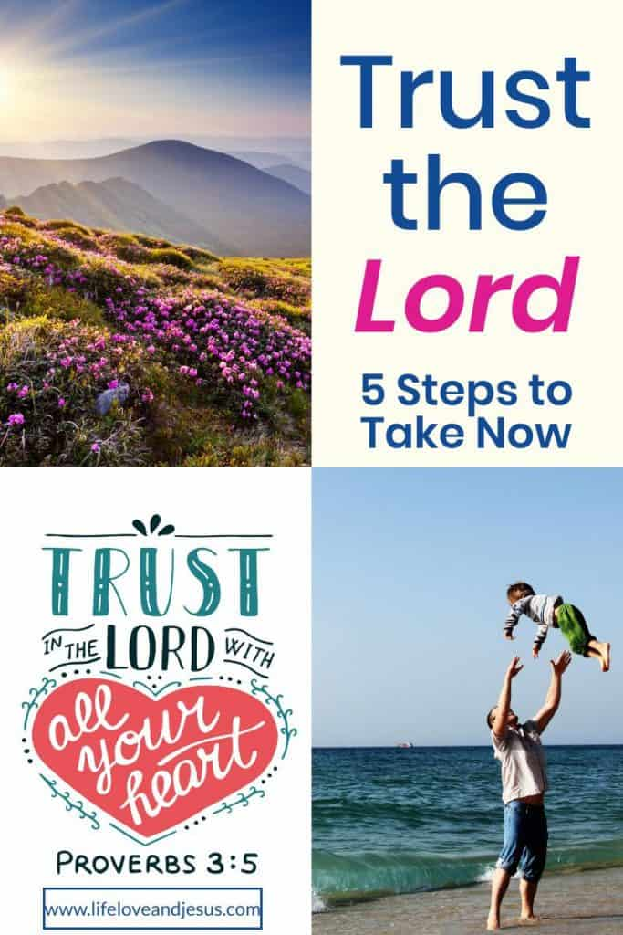 learn to trust the Lord