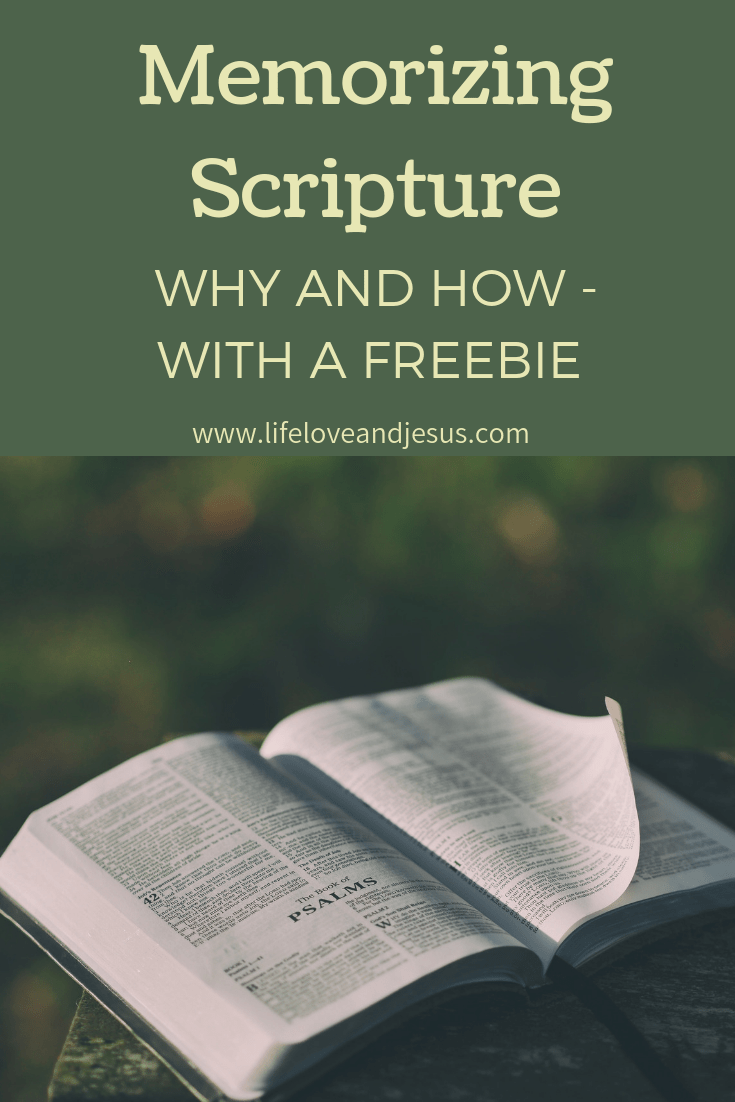 Memorizing verses from God's Word was one of the first disciplines I adopted as a believer. Scripture memorization is an important discipline to master for all believers. I'm trying to make it easier for you by providing a list of verses, as well as printable copies of those verses. Check it out!