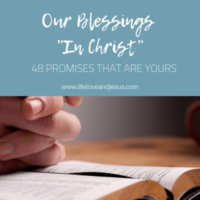 our blessings in Christ
