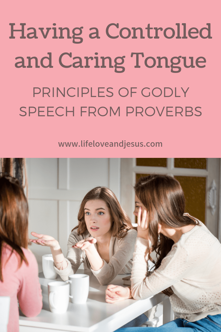 Speaking wisely is one of the primary themes of the book of Proverbs. Two key ways to speak wisely are to have a controlled tongue and a caring tongue.