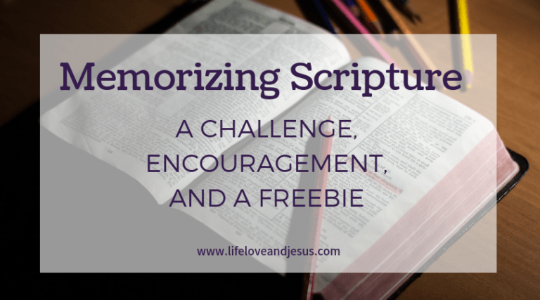 Scripture Memorization | A Challenge for You