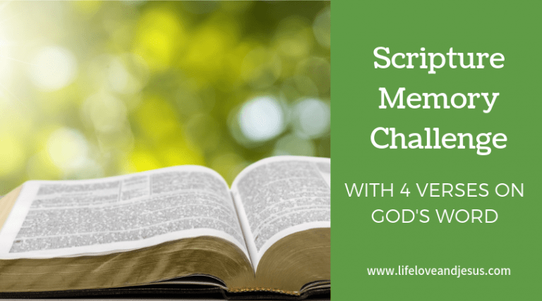 Scripture Memory Challenge with Printable Verses