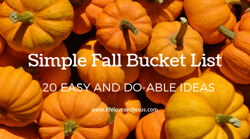 simple fall bucket list